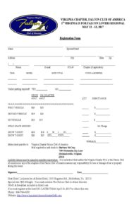 VA Regional Registration Form
